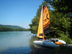 Smartkat - Katamaran segeln am Rhein
